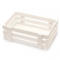 Щайга дървена 300x210x100 мм цвят бял