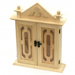 Wooden box  for keys with ornament 290x220x62 mm