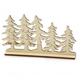 Елхички дърво 160x90 мм с поставка