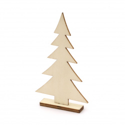 Wooden fir tree for decoration 93x53x10 mm - 2 pieces