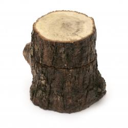 кутийка натурално дърво пънче 70~80x55~70 мм