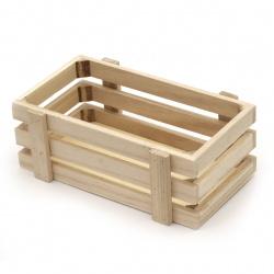 Дървена щайга 220x130x80 мм