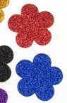Brocade Flower for  Embellishment, Mix Colors /EVA foam material/  33x2mm - 10 pcs.
