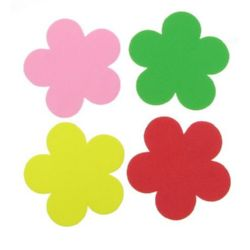 Foam Flowers for Embellishment, Mix Colors /EVA foam material/ 57x2mm - 4 pcs.