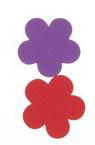 Foam Flowers for Embellishment, Mix Colors /EVA foam material/ 33x2mm - 10 pcs.