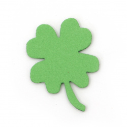 Clover with foam handle / EVA material / 33x2 mm green -20 pieces