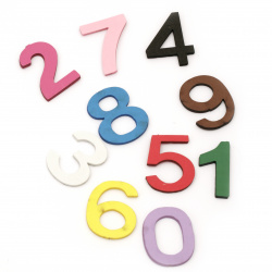 Numbers of foam /EVA foam material/    43x20~34x3 mm - mix color from 1 to 9