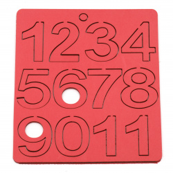 Numbers of foam /EVA foam material/    43x20~34x3 mm - assorted from 1 to 10