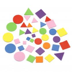 Γεωμετρικά σχήματα αυτοκόλλητα, υλικό EVA / ΜΙΞ -110 τεμάχια
