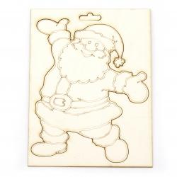 Άγιος Βασίλης από χαρτόνι chipboard, 150x100 mm