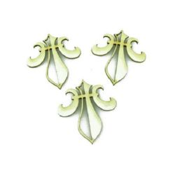 Heraldic lily from chipboard 40x35x1 mm - 4 pieces