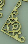 Ornamented corners of chipboard, openwork 40x25x1 mm - 4 pieces