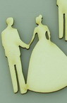Newlyweds from chipboard for various of decorations 50x35x1 mm - 2 pieces