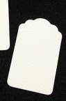 Таг за картичка от бирен картон 64x38 мм -5 броя