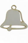 Bell made of chipboard 50x50x1 mm - 2 pieces