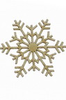 Snowflake made of chipboard for Christmas decoration 50x1 mm - 2 pieces