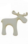 Deer made of chipboard for various of decoration 50x50x1 mm - 2 pieces