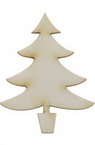 Christmas tree made of chipboard 50x35x1 mm - 2 pieces