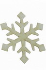 Delicate snowflake made of chipboard 50x1 mm - 2 pieces