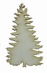 Christmas tree made of chipboard 80x45x1 mm - 2 pieces