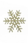 Snowflake made of chipboard for winter decoration 50x1 mm - 2 pieces