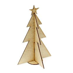 MDF Wooden Element for decoration tree of 3 pieces 220x140x3 mm