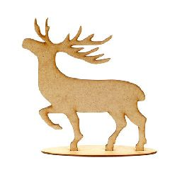 Фигурка кафява МДФ за декорация елен от 2 части 205x160x3 мм