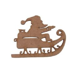 MDF Wooden decoration element Santa Claus 100 x 120 x 3 mm