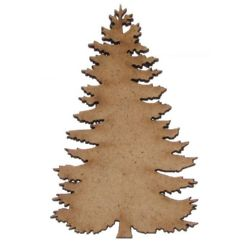 Christmas Tree MDF Wooden Ornament DIY Decoration 100x55x3 mm