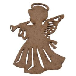 Brown MDF figurine for angel decoration 100x75x3 mm