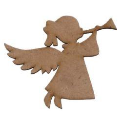 Фигурка кафява МДФ за декорация ангел 93x125x3 мм