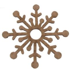 MDF Wooden Element snowflake decoration 100x3 mm