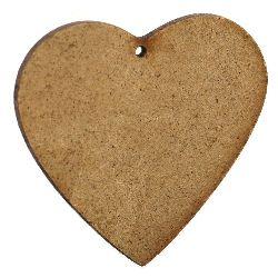 Figurină din MDF maron pentru inimă de decorare 90x105x2 mm