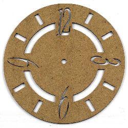 Figurină MDF maron pentru ceas de decorare 200x2 mm