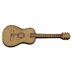 Figura MDF maron pentru decorarea chitara 100x40x2 mm