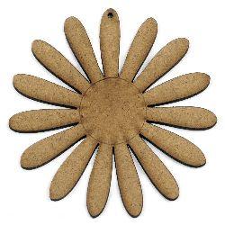 Figura MDF maron pentru decorarea florilor 100x2 mm