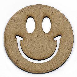 Φάτσα με χαμόγελο καφέ MDF για διακόσμηση 100x2 mm