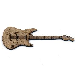 MDF Wooden decoration element guitar 100 x  35 x 2 mm