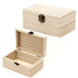 Cutie din lemn închidere metalica 150x95x65 mm