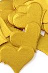 Hârtie perlă forma inimă 17x20 mm culoare auriu-100 buc