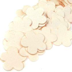 Цвете перлена хартия 19x2 мм светло розово -100 бр