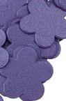 Hârtie perlata forma floare 19x2 mm violet -100 buc