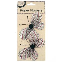 Paper Wire Butterfly, 11.7x6.6mm 2pcs