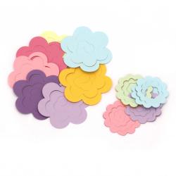 Цветя от хартия 52~75x52~69 мм за декорация Асорте цветове -20 броя