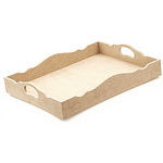 MDF tray for decoration 29x38 cm
