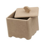 Кутия MDF за декорация с дръжка 13x13x11.5 см