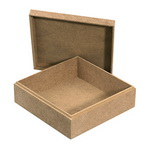 Кутия MDF за декорация 18x18x7 см
