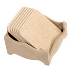 MDF set 6 pads 100x4 mm with supply 12x12 cm