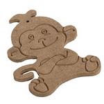 Μαϊμού καφέ MDF για διακόσμηση 8x10.5 cm