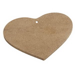MDF Wooden Element Decoupage heart decoration 10x10.5 cm